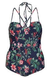 Chelsea 28 Chelsea28 Makenna One Piece Swimsuit Navy Sapphire Romantic Floral
