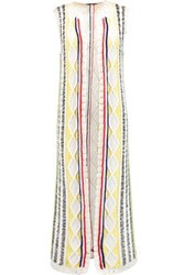Alice Olivia Rudy Cable Knit Cotton Blend Vest Ivory