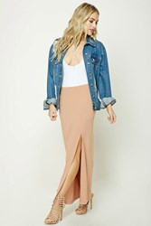 Forever 21 Contemporary Maxi Skirt Nude