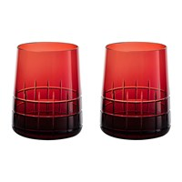 Christofle Graphik Goblets Set Of 2 Red