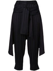 Hellessy Layered Cropped Trousers Black