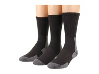 Thorlos Trail Hiking Crew 3 Pair Pack Castlerock Grey Women's Crew Cut Socks Shoes Gray