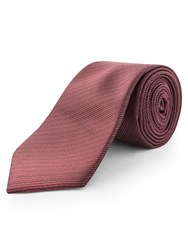 Limehaus Self Stripe Tie Red
