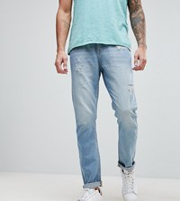 Brooklyn Supply Co. Co Tapered Jeans With Abrasions Black