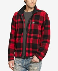 Denim And Supply Ralph Lauren Men's Plaid Fleece Jacket Red