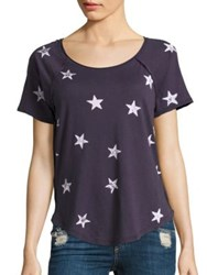 Splendid Ashbury Star Print Tee Ink