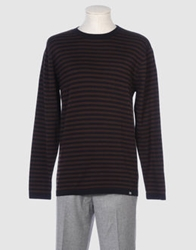 Stussy Authentic Gear Crewneck Sweaters Dark Brown