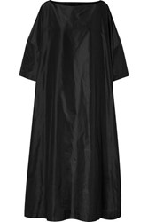 The Row Luanna Silk Taffeta Maxi Dress Black