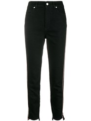 Alexander Mcqueen Military Inspired Cropped Jeans Black