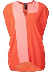 Zero Maria Cornejo Zero Maria Cornejo Colorblock Top Yellow And Orange