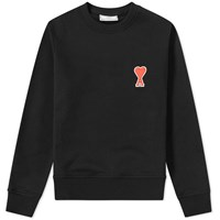 Ami Alexandre Mattiussi Heart Patch Sweat Black