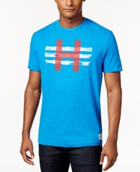 Tommy Hilfiger Men's Big And Tall Graphic Print T Shirt French Blue