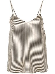Mes Demoiselles Striped Camisole Top Black