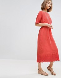 Vanessa Bruno Ath Athe A Line Midi Dress With Detailing Red