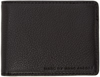 Marc By Marc Jacobs Black Grained Leather Martin Wallet