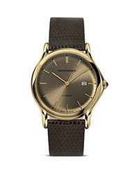 Emporio Armani Swiss Made Light Gold Ion Plated Stainless Steel Watch 42Mm