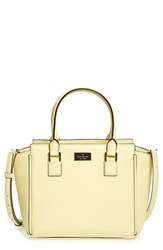 Kate Spade New York 'Prospect Place Small Hayden' Leather Satchel Yellow Lemon Souffle