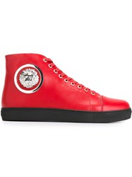 Versus Lion Head High Tops Red