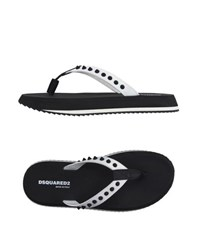 Dsquared2 Footwear Thong Sandals Men White