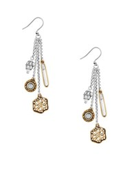 Lucky Brand Multi Charm Earrings Mixed Metal