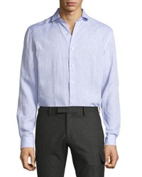 Ralph Lauren Solid Linen Button Down Shirt Lavender Purple