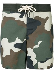 The Upside Military Printed Shorts Green