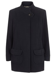 Windsmoor Funnel Neck Wool Pocket Coat Navy