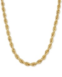 Macy's Hollow Rope Chain Necklace In 14K Gold