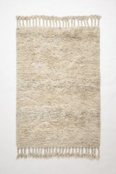 Anthropologie Fringed Flokati Rug Neutral