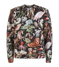 Valentino Animal Fantasy Neoprene Sweater Male Black