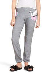Wildfox Couture Women's Knox Swans Crossing Sweatpants Heather Burnout