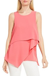 Vince Camuto Women's Tiered Asymmetrical Blouse Rossetto