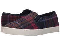 Report Avril Red Plaid Women's Slip On Shoes