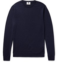 Nn.07 Charles Merino Wool Sweater Blue