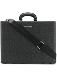 Dsquared2 Textured Leather Briefcase Black