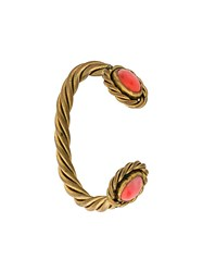 Chanel Vintage Twisted Gripoix Bracelet Metallic