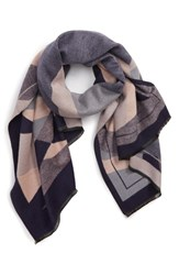 Leith Abstract Geo Print Scarf Blue Multi