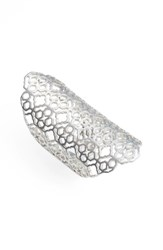 Kendra Scott Women's 'Boone' Openwork Ring Rhodium