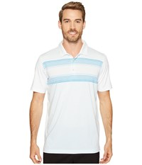 Puma Highlight Stripe Polo Bright White French Blue Men's Short Sleeve Knit