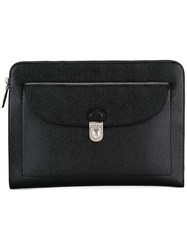 Tod's Zip Around Clutch Black
