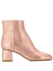 Red Valentino V Side Zip Ankle Boots Pink