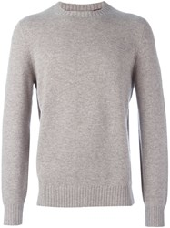 Brunello Cucinelli Crew Neck Pullover Nude And Neutrals