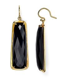 Chan Luu Faceted Drop Earrings Onyx