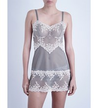 Wacoal Lace Mesh Chemise Frost Pink Grey