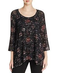 Nally And Millie Floral Scoop Neck Tunic Floral Stripe