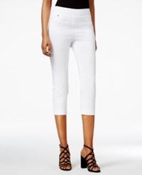 Thalia Sodi Cropped Snap Cuff Pants Only At Macy's Bright White