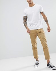 Solid Chino In Tan Beige