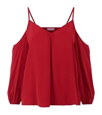 Joie Cold Shoulder Cami Top Female Red