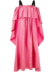 Adam By Adam Lippes Moire Pleated Gown Pink