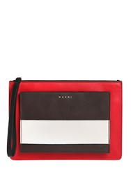 Marni Color Block Smooth Leather Pouch